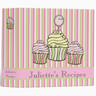 Cupcake Sweet Desserts Recipe Book Binder