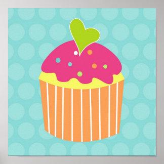 Cupcake Sweet Kids Nursery Wall Art Prints Poster