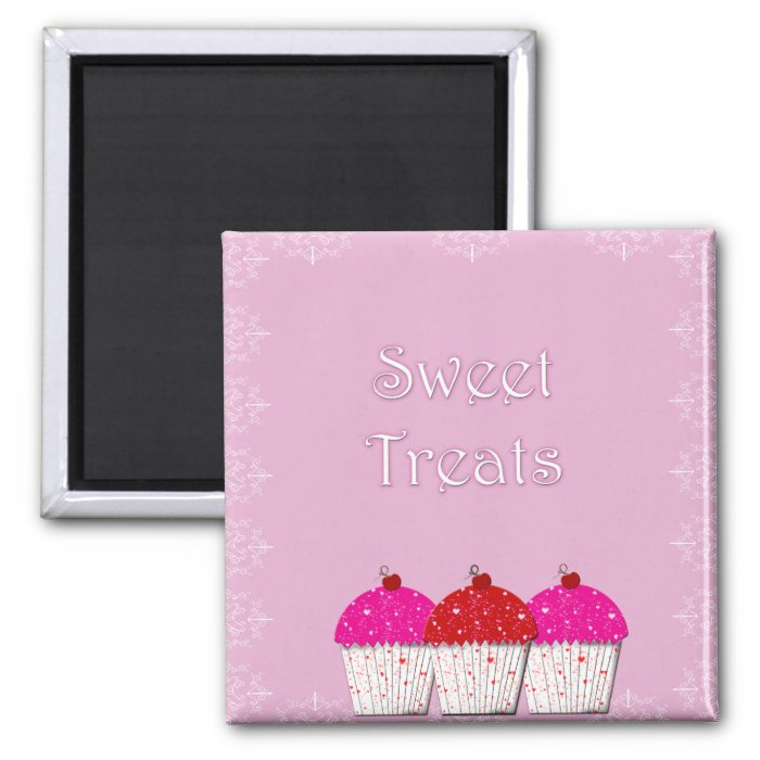 Cupcake Sweet Treats 2 Inch Square Magnet