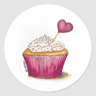 Cupcake - Sweetest Day Classic Round Sticker