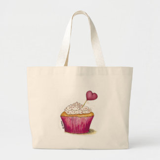 Cupcake - Sweetest Day Large Tote Bag