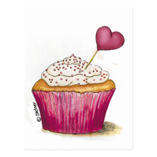 Cupcake - Sweetest Day Postcard
