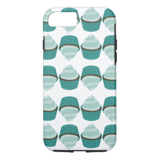 Cupcake Swirly Frosted Mint Green Cake Birthday iPhone 8/7 Case