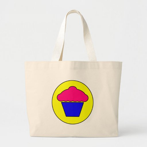 Cupcake Symbol Icon Cup Cake Dessert Canvas Bags