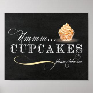 Cupcake Table Sign - Cupcake Bar Sign Poster