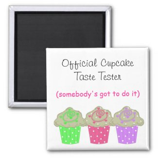 Cupcake Taste Tester magnet