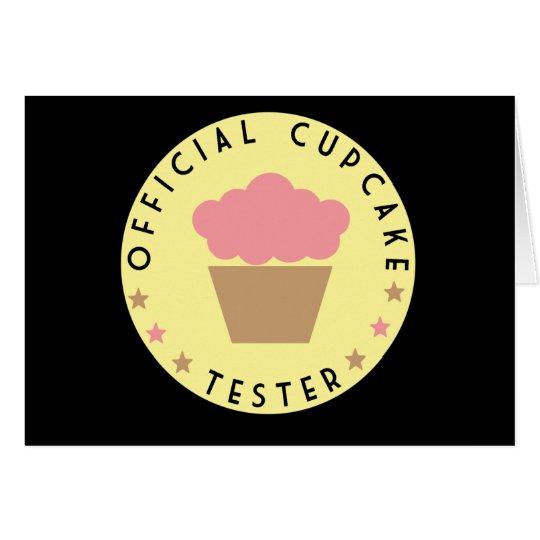 Cupcake Tester Card