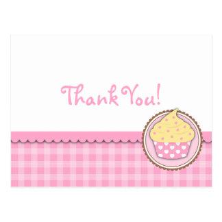 Cupcake Thank You Card Postcard