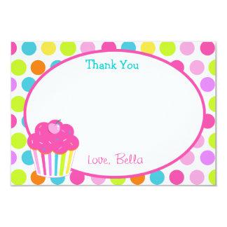 "Cupcake Thank You Cards 3.5"" X 5"" Invitation Card"