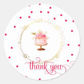 ★ Cupcake thank you Classic Round Sticker