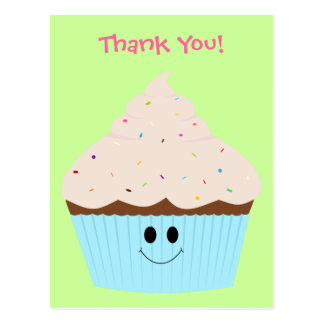 Cupcake Thank You Postcard