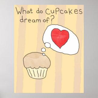 Cupcake themed poster - 'Cupcake dreams'