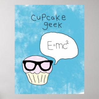 Cupcake themed poster - 'Cupcake geek'