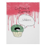 Cupcake themed poster - 'Cupcake zombie'