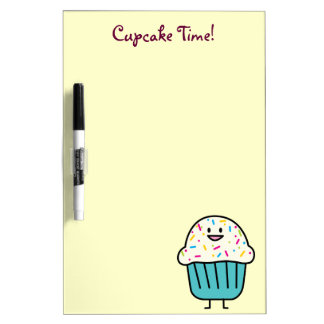 Cupcake Time with sprinkles sweet dessert fondant Dry-Erase Board