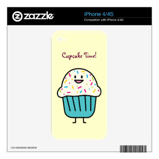 Cupcake Time with sprinkles sweet dessert fondant Skin For The iPhone 4S