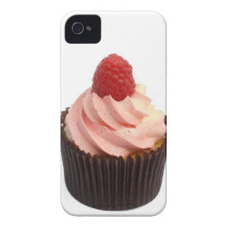 Cupcake topped with raspberry cream and a fresh iPhone 4 cover