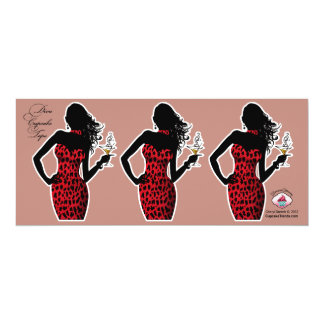 CUPCAKE TOPPER Diva Glam Leopard - red Card