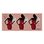 CUPCAKE TOPPER Diva Glam Leopard - red Personalized Announcements