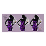 CUPCAKE TOPPER Diva Glam Zebra - purple Personalized Announcements