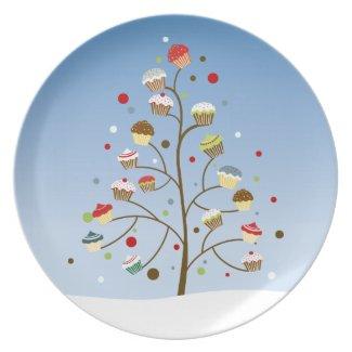 Cupcake Tree Holiday Party Plates