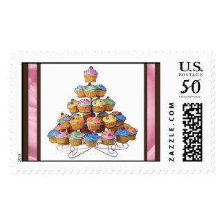 Cupcake Tree Postage Stamps