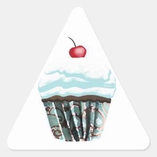 Cupcake Triangle Sticker