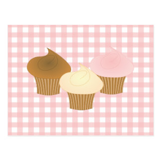 Cupcake Trio Postcard