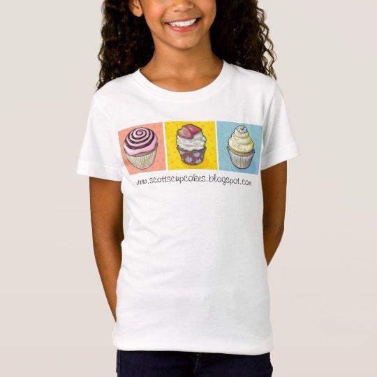 cupcake trio primary colors T-Shirt