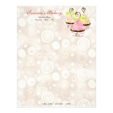Professional Business Cupcake Trio w/ Heart Business Cream Stationery