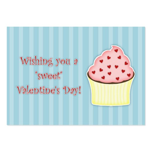 Cupcake Valentine's Day Cards Large Business Cards (Pack Of 100)