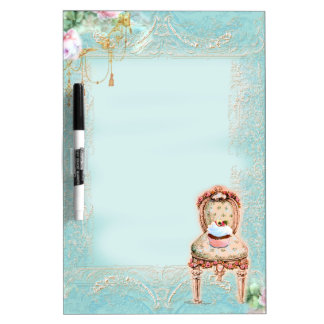 Cupcake & Victorian Chair Dry Erase Board