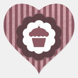 cupcake vintage heart sticker
