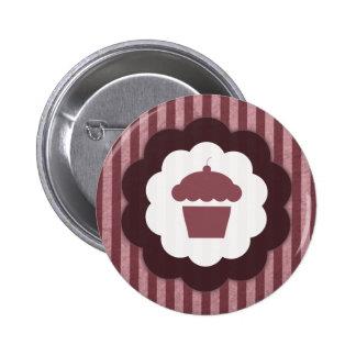 cupcake vintage pinback button