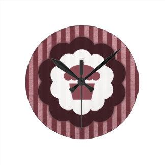 cupcake vintage round clock