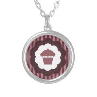 cupcake vintage round pendant necklace