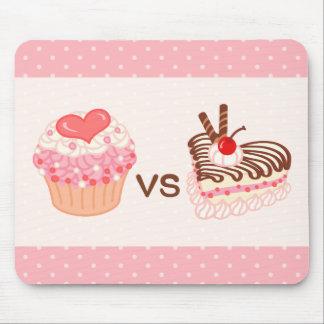 Cupcake VS Cheesecake Mouse Pad