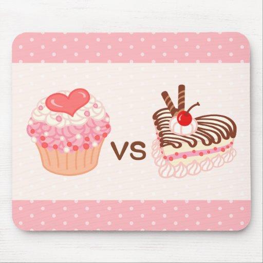 Cupcake VS Cheesecake Mousepads