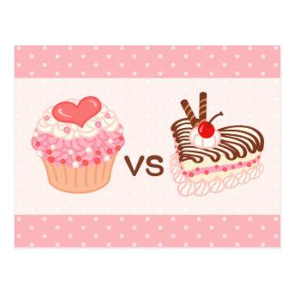 Cupcake VS Cheesecake Postcard