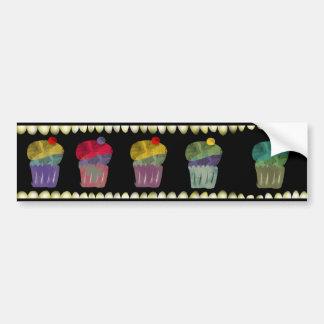 Cupcake watercolor Bumper Sticker Car Bumper Sticker