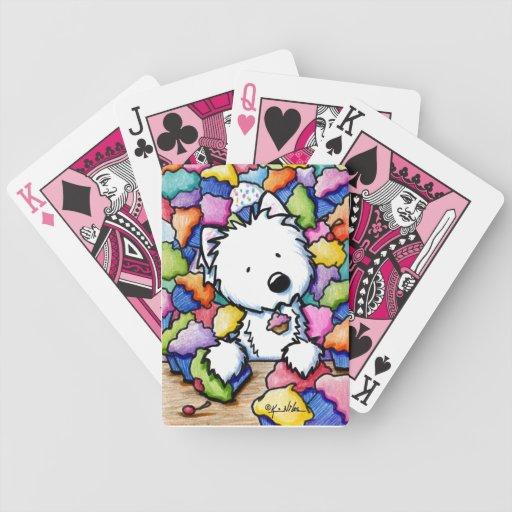 Cupcake Westie Playing Cards