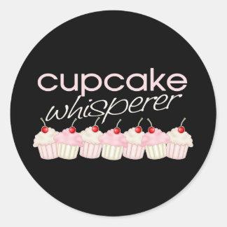 Cupcake Whisperer Classic Round Sticker