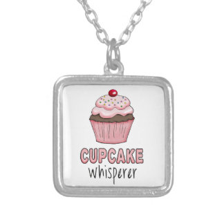 Cupcake Whisperer Silver Plated Necklace