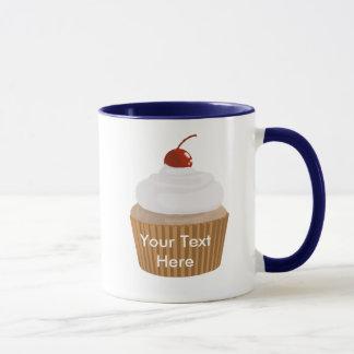 Cupcake-White and Brown Mug