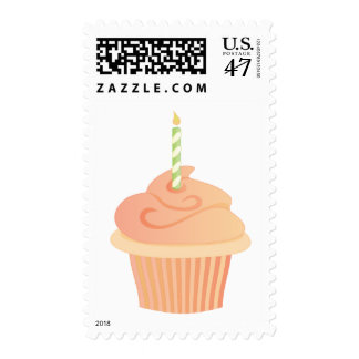 Cupcake with a Candle Postage