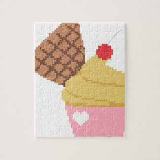 cupcake with a cherry on top jigsaw puzzle