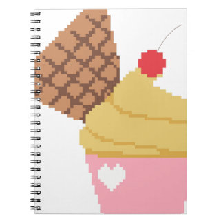 cupcake with a cherry on top notebook