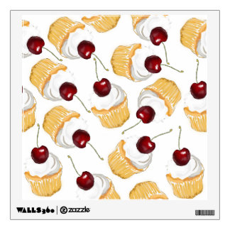 Cupcake with a Cherry Wall Sticker