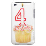 Cupcake with a numbered birthday candle 2 Case-Mate iPod touch case