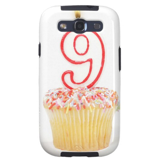Cupcake with a numbered birthday candle 3 samsung galaxy SIII case